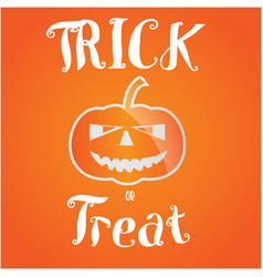 Trick or treat halloween greeting card vector