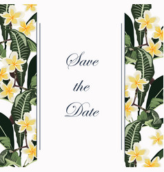 wedding marriage event invitation vintage style vector image