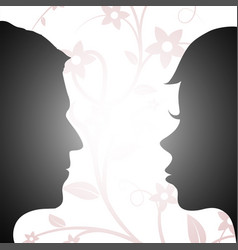 Woman and man looking at each other vector