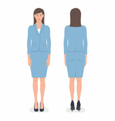 Woman front and back views vector