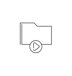 play folder icon vector image vector image