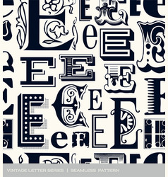seamless vintage pattern letter E vector image