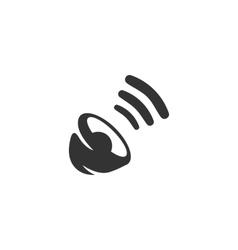 Sound Icon logo on white background vector image vector image
