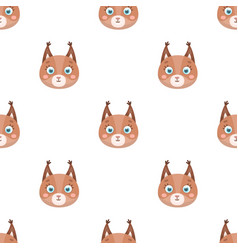 Squirrel muzzle icon in cartoon style isolated on vector