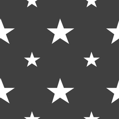 Star favorite icon sign seamless pattern on a gray vector