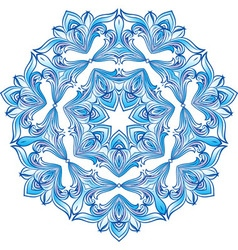 Blue snowflake ilustration vector