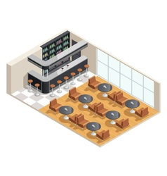 Cafe Interior Isometric vector image vector image