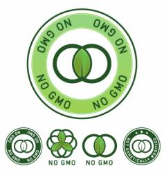 no GM label vector image