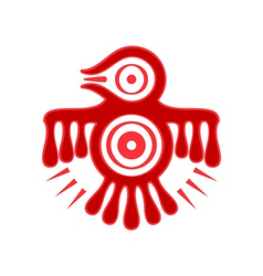 Aztec spirit bird vector image vector image