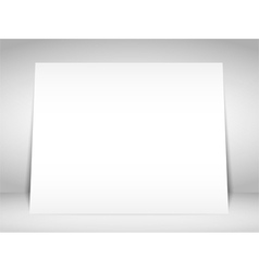 Blank White Placard vector image vector image