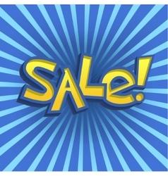 Cartoon Sale Offer vector image vector image
