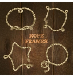 Rope Frames Set vector image