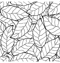 seamless abstract black autumn leaves background vector image vector image