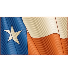 Vintage Texas flag background vector image