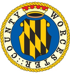 Worcester County seal vector image vector image