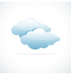 Blue cloud computing vector image