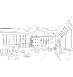 City lendskeyp vector image vector image