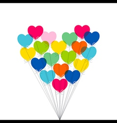 colorful valentine day or birthday greeting design vector image vector image
