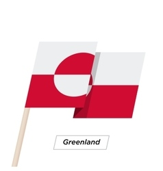 Greenland Ribbon Waving Flag Isolated on White vector image