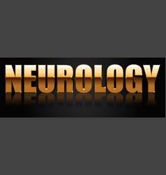 Neurology golden logo vector