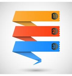 steps labels vector image