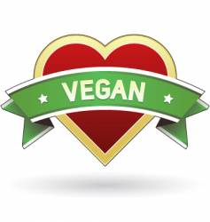 vegan food and product label vector image vector image