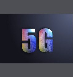 5g network wireless systems and internet in vector image