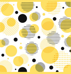 abstract modern yellow black dots pattern vector image