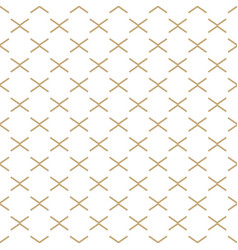 Abstract white and gold geometric pattern vector