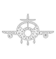 aircraft mesh wire frame model vector image