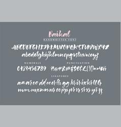 Baikal handwritten brush font vector