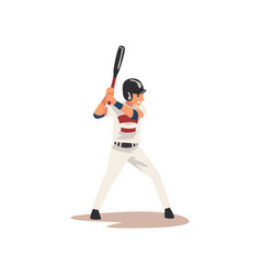 baseball player swinging bat hitting ball vector image