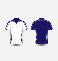 blue and white layout e-sport t-shirt design vector image