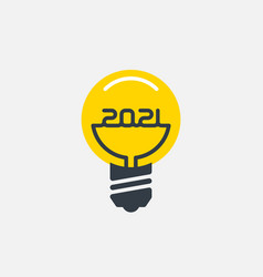 Bright ideas for business in 2021 stylized light vector