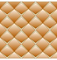 Brown rhomb seamless pattern vector image