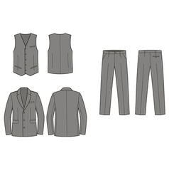 Business suit vector image