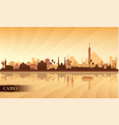 Cairo city skyline silhouette background vector