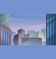 cityscape copy space vector image