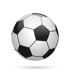 Classic soccer ball Football icon vector image