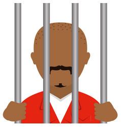 Danger bandit in jail avatar character vector