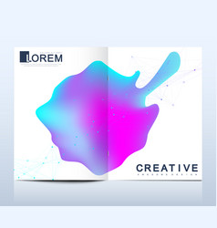 design template in trendy vibrant gradient vector image
