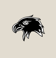 eagle fave silhouette logo vector image