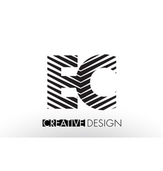 Ec e c lines letter design with creative elegant vector