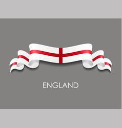 english flag wavy ribbon background vector image
