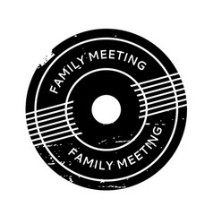 Family meeting rubber stamp vector