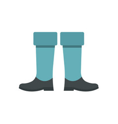 Fishing boots icon flat style vector