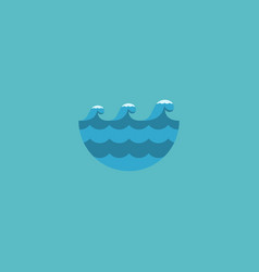 flat icon waves element of vector image