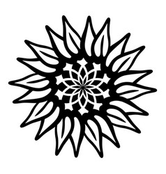 flower pictogram icon simple style vector image
