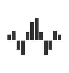 Geometric music wave glyph icon silhouette symbol vector