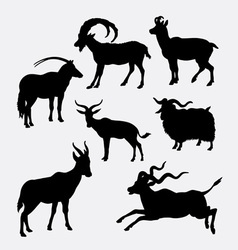 Goat animal silhouette vector